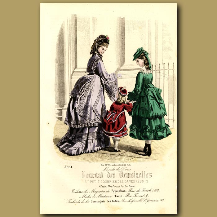 Antique print. French Fashion: Fashions From Madame Tarot