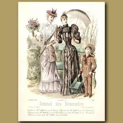 French Fashion: Elegant Ladies And Boy