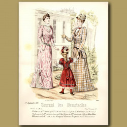 French Fashion: Ladies And Children In Park