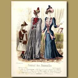 French Fashion: Elegant Ladies And Girl