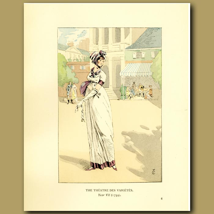 Antique print. The Theatre Des Varietes