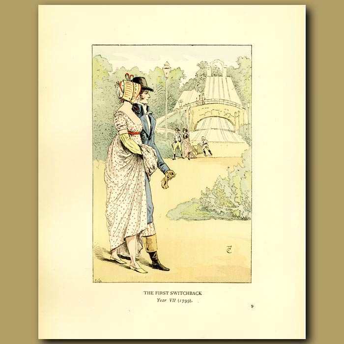 Antique print. The First Switchback