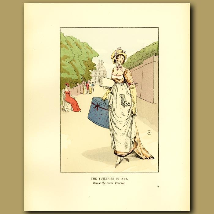 Antique print. The Tuileries In 1802.