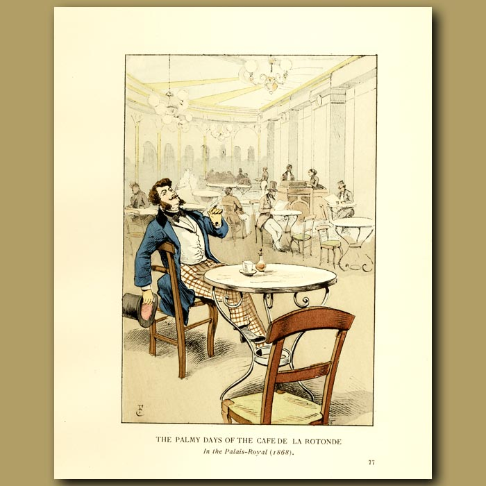 Antique print. The Balmy Days Of The Cafe De La Rotonde
