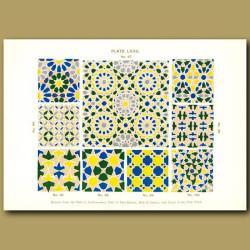Alhambra Palace: Mosaic designs