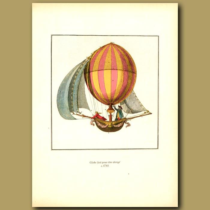 Antique print. Globe fait pour etre dirige, c.1785
