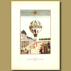 The balloon ascent of Madame Blanchard in 1810