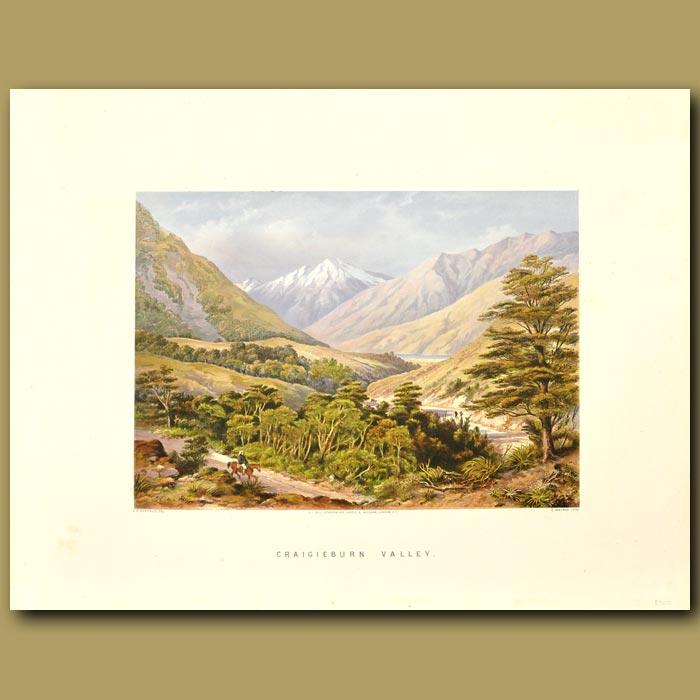 Antique print. Craigieburn Valley