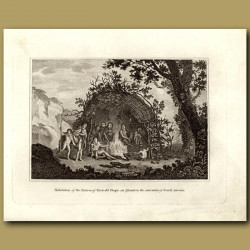Habitation Of The Natives Of Terra De Fuego, An Island On The Extremity Of South America