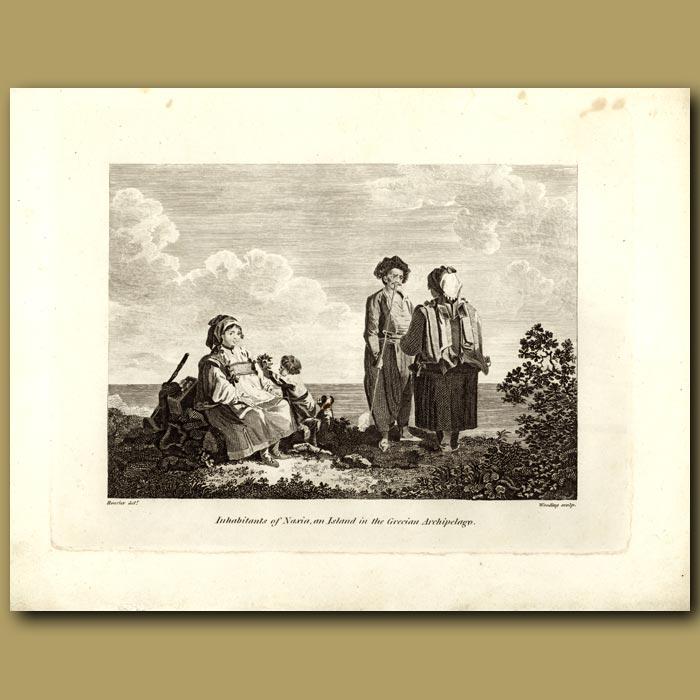 Antique print. Inhabitants Of Naxia, An Island In The Grecian Archipelago