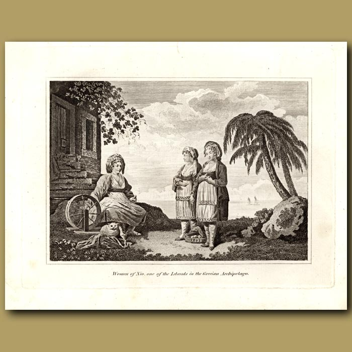 Antique print. Women Of Nio, On Of The Islands In The Grecian Archipelago
