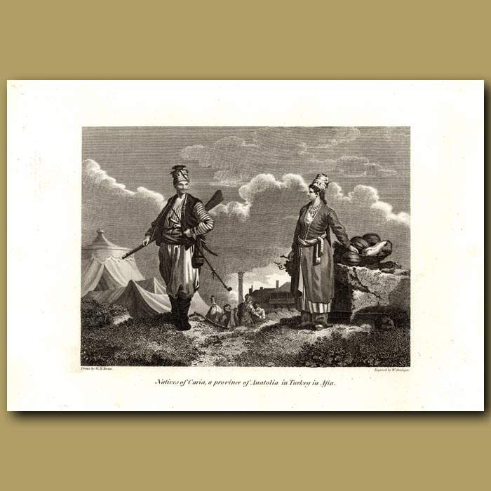 Antique print. Natives Of Caria, A Province Of Anatolia In Turkey In Asia