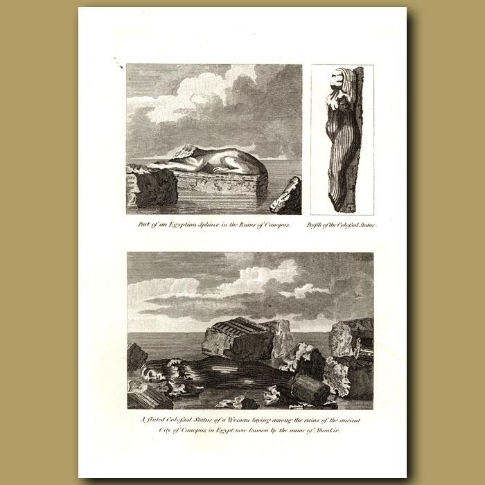 Antique print. Egyptian Ruins