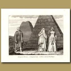 An Egyptian Merchant, An Egyptian Lady, An Almee Or Dancing Girl Of Egypt