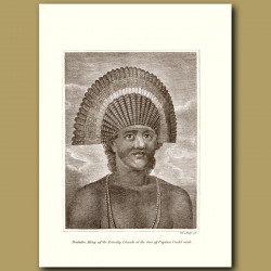 Poulaho, King Of Friendly Isles At Time Of Captain Cook's Visit (Tonga)