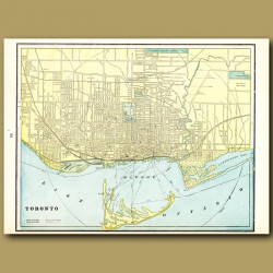 Map Of Toronto (with Map Of Montreal On The Back)