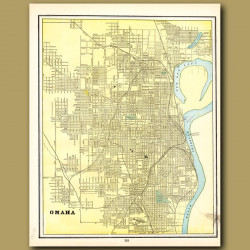 Map Of Omaha (with Map Of Council Bluffs On The Back)