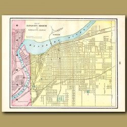 Map Of Kansas City, Missouri (with Map Of St. Louis On The Back)
