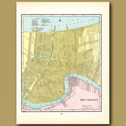 Map Of New Orleans (with Map Of Atlanta On The Back)