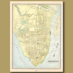 Map Of Charleston, South Carolina (with Map Of Birmingham On The Back)