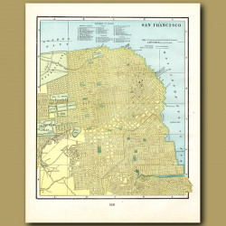 Map Of San Francisco (with Map Of Denver On The Back)