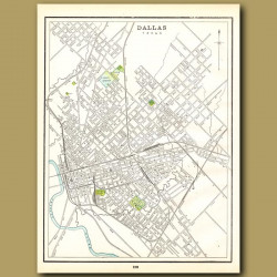 Map Of Dallas (with Map Of Buffalo On The Back)