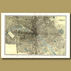 Map Of Paris (double Size) With Maps Of Berlin And Calcutta On The Back