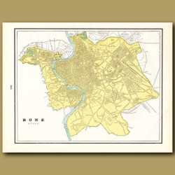 Map Of Rome (with Map Of Madrid On The Back)