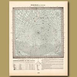 Constellations Of The Zodiac North Polar (constellations Of The South Polar On The Back)