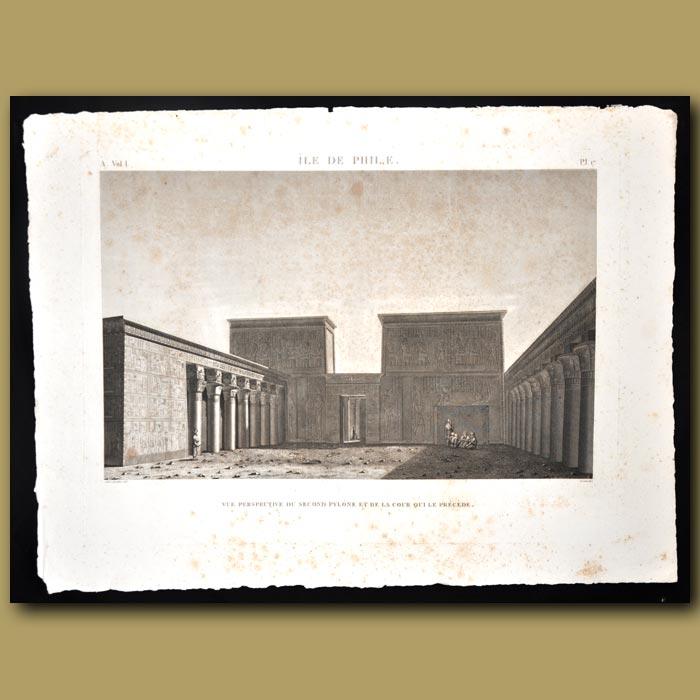Antique print. Ile de Philae