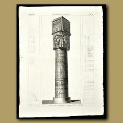 Details of a Column at Denderah