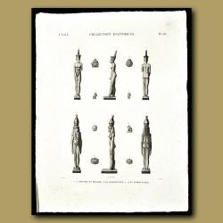 Figures in Bronze, Serpentine and Terra cotta