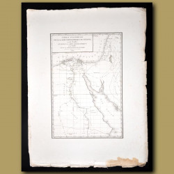 Map Of Egypt, The Nile River, The Sinai And The Red Sea