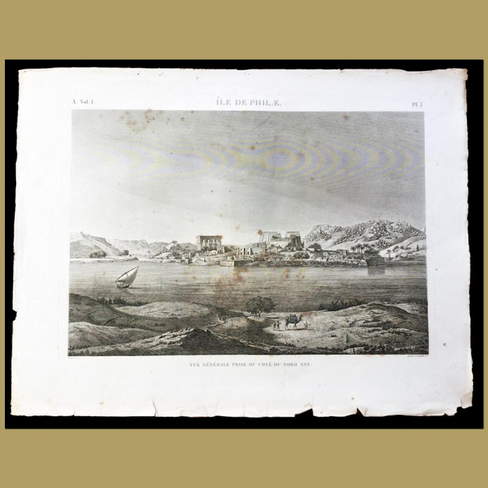 View of the Coast of the Isle of Philae