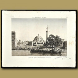 View of the port of the Mosque of Boulaq