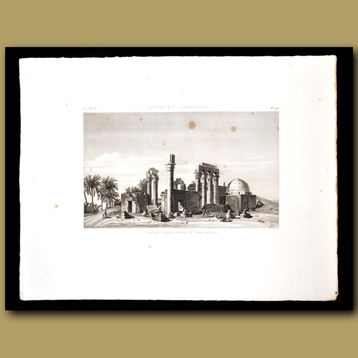 Antique print. Temple of Erment (Hermonthis)