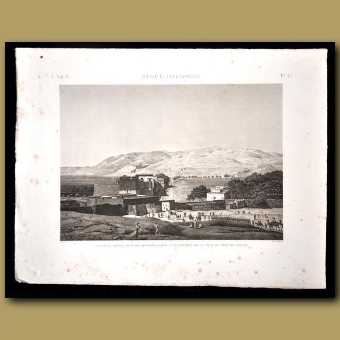 Antique print. Syout (Lycopolis)