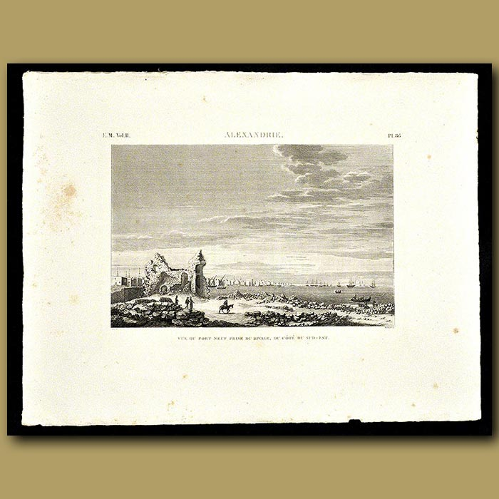 Antique print. View of the Port