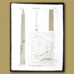 Plans and enclosure of the ruins of the city and an Obelisk