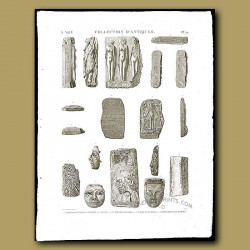 Figures and Masks in basalt and wood