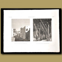 Views of the streets of Alexandria and Grand Bazaar