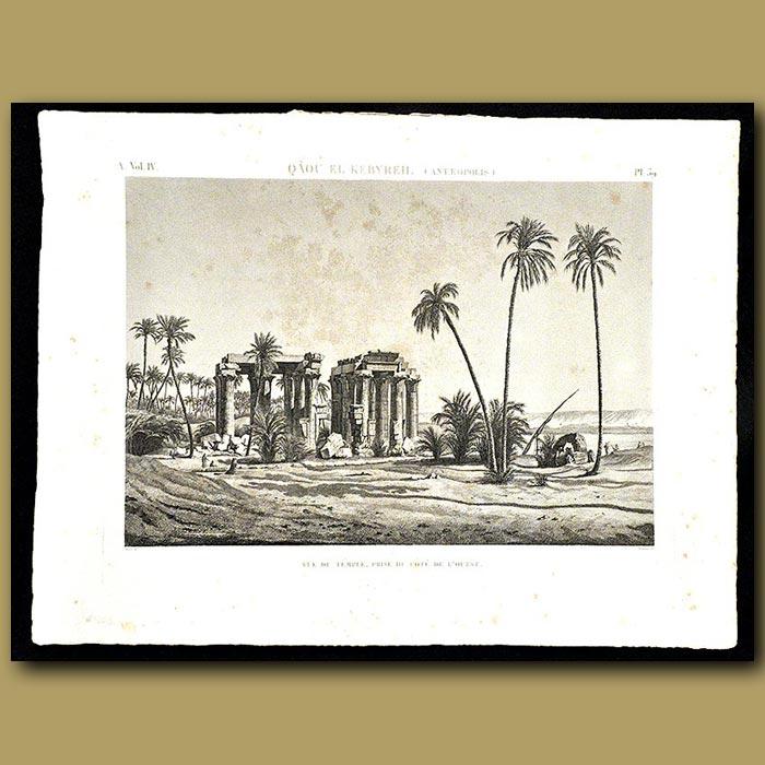 Antique print. Temple on the east coast