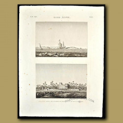 Views of a house and fort in Lower Egypt