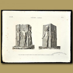 Six figures carved from granite found in the Palace Gallery