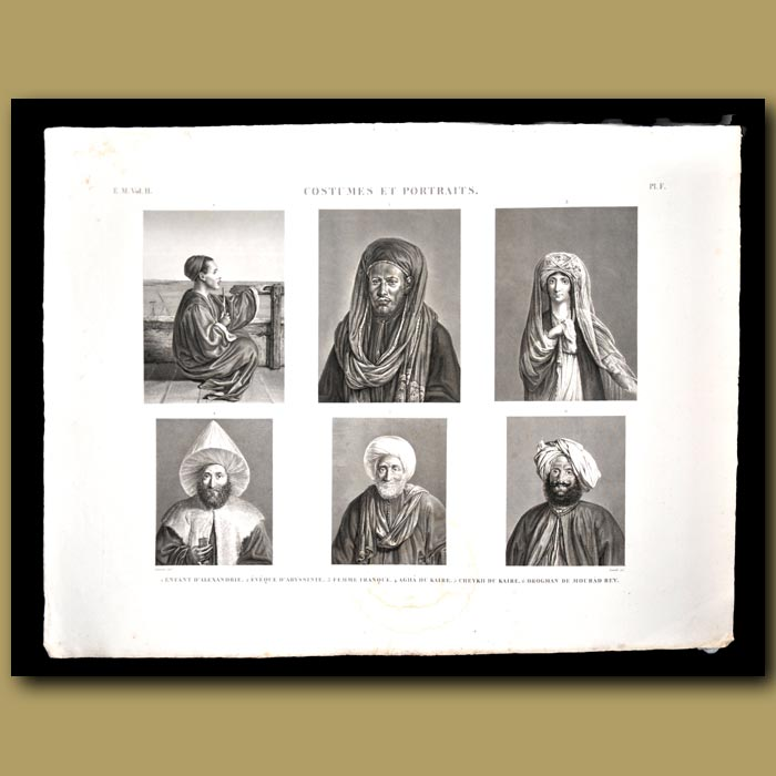 Antique print. People of Egypt