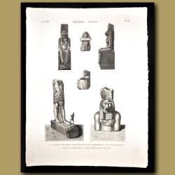 Granite statues from Karnak