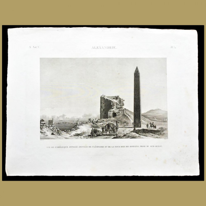 Cleopatra's Needle and the Remains of a Roman Tower