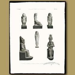 Ancient figures in bronze, basalt and clay