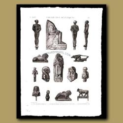 Figures in bronze and terra cotta