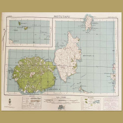 New Zealand: Map Of Rangitoto Island And Motutapu Island, Auckland